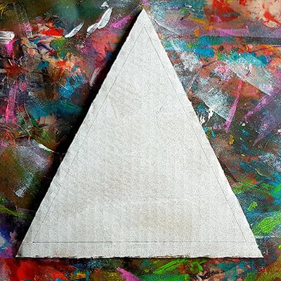 triangle au crayon à papier