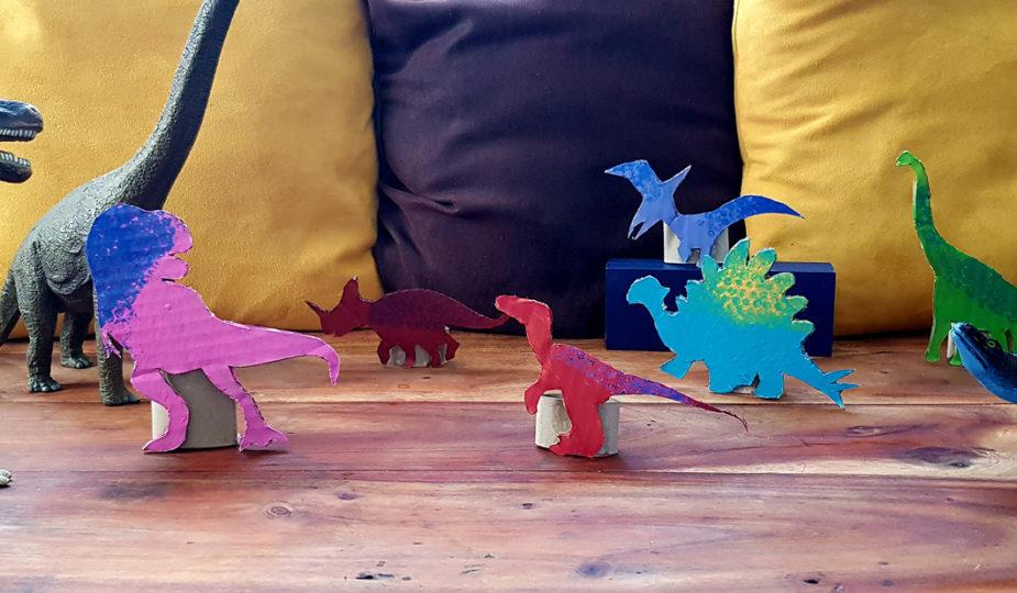 DIY enfant, création de figurines dinosaures