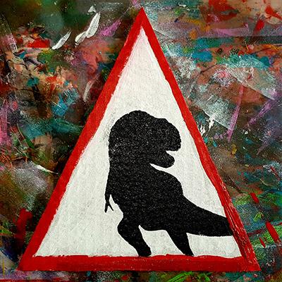 pochoir dinosaure pour panneau