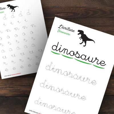 écriture dinosaure