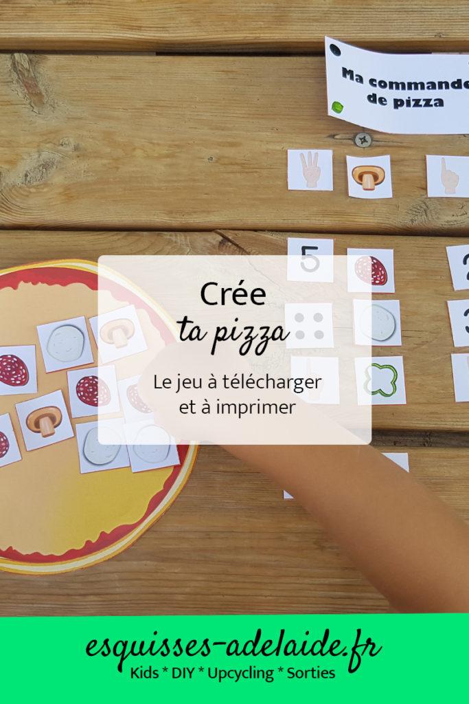 Crée ta pizza, pour apprendre à compter
