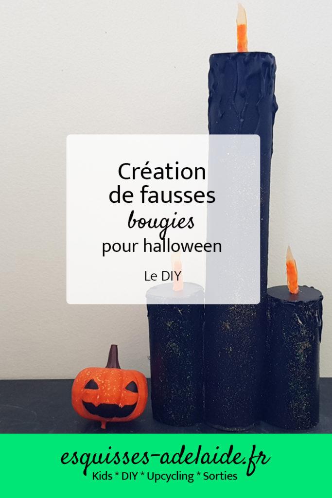 DIY fausses bougies pour halloween