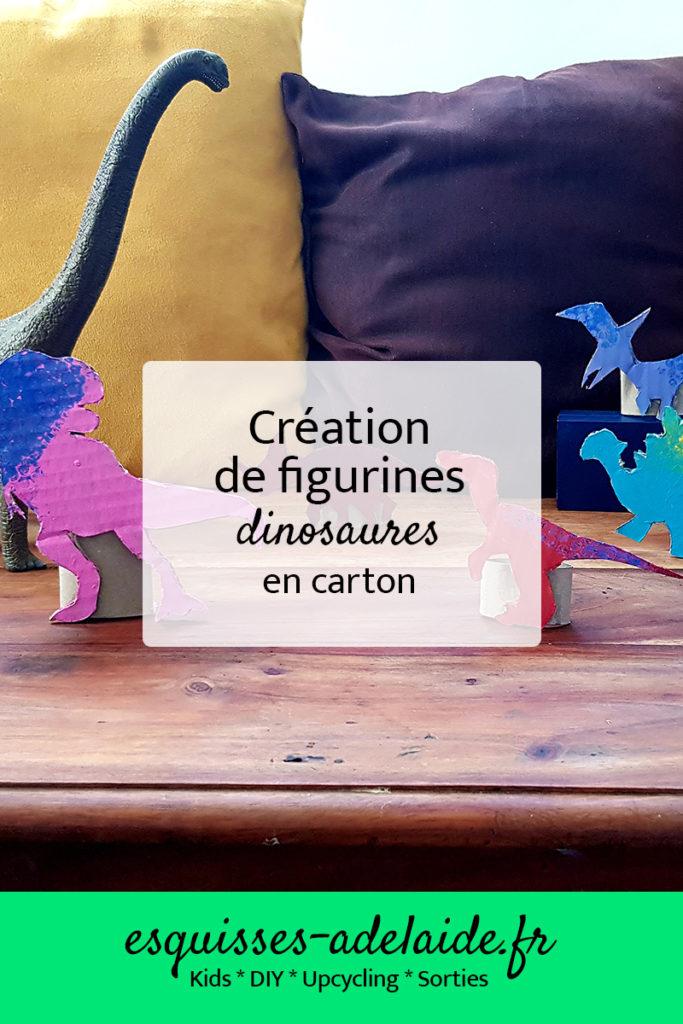 Tuto pour créer des figurines dinosaures en carton