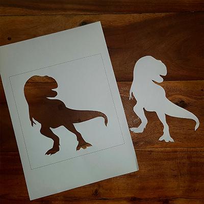 création d'un pochoir dinosaure