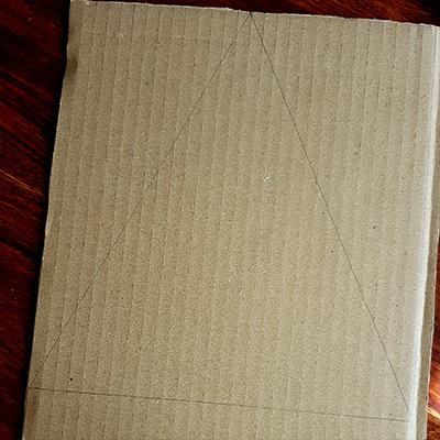 dessin triangle carton