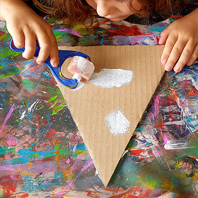 peindre en blanc un carton