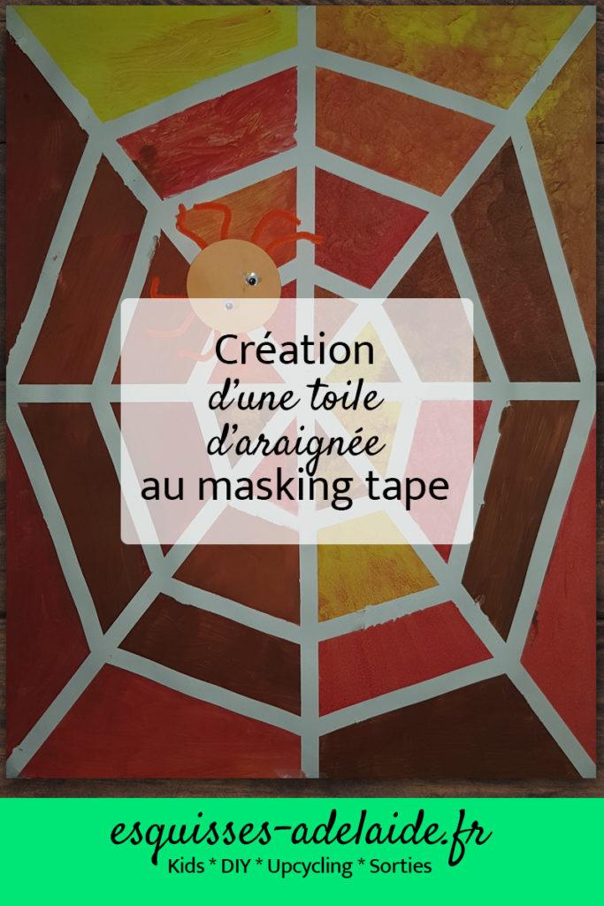 Création d'une toile d'araignée au masking tape