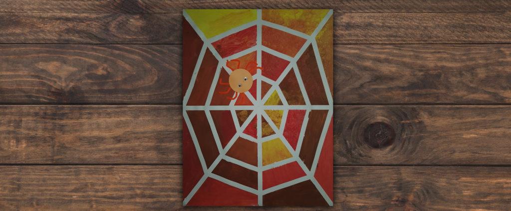 tuto toile d'araignée au masking tape et peinture
